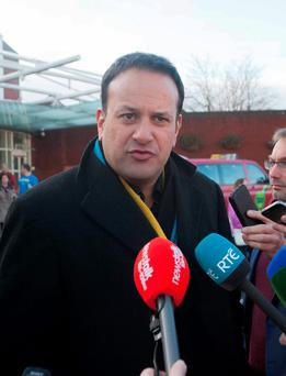 Minister for Health Leo Varadkar speaking to media at St James's Hospital, Dublin, during a tour of A&E wards earlier this week.