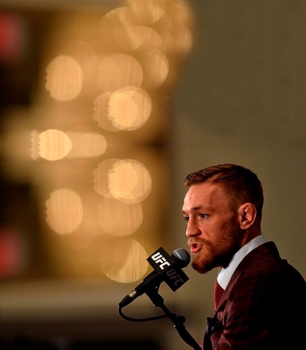 Conor McGregor has another title in his sights (SPORTSFILE)