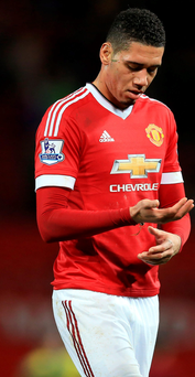 Chris Smalling is now referred to as 'Pele' by Louis van Gaal. Photo: PA
