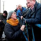 There may be trouble ahead for established parties if European trends take hold. Above, Taoiseach Enda Kenny visits the home of Gertie Dunning in Carrickobreen, in Athlone, during the flooding. Photo: Steve Humphreys