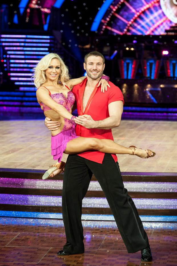Kristina Rihanoff and Ben Cohen attend the launch photocall for the Strictly Come Dancing live tour 2014 at NIA Arena on January 16, 2014 in Birmingham, England. (Photo by Steve Thorne/Getty Images)