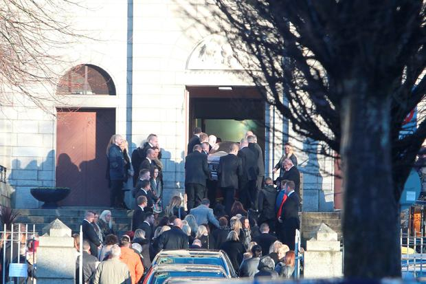 Funeral of Darren Kearns at The Church of the Most Precious Blood, Cabra