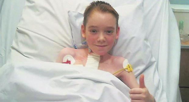 Arron O'Leary is recovering well after his double lung transplant Credit: Cork University Hospital website
