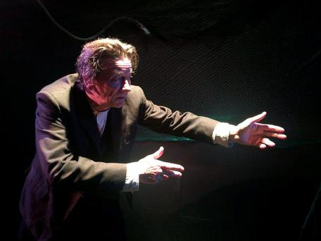 Emotional: Brendan Conroy gives a spirited performance in The Aran Islands at the Viking Theatre