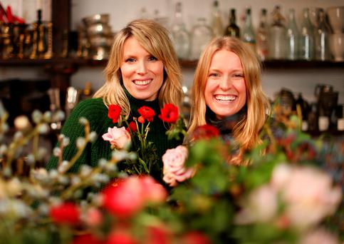 Flower power: Florists Claire Ryan and Patsie Wrafter. Photo: Gerry Mooney