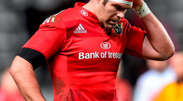 Munster's Billy Holland following his side's defeat yesterday Photo:Sportsfile