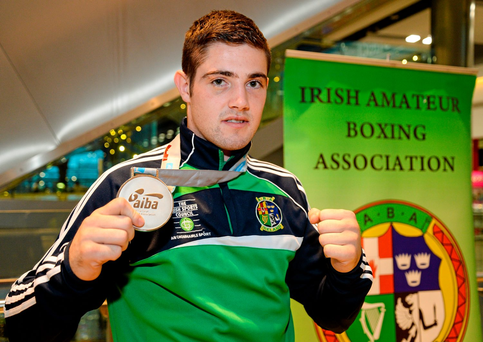 Joe Ward has qualified for the Rio team, but not through the WSB Photo:Sportsfile