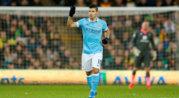 Sergio Aguero scored one and set up another. Photo: Reuters