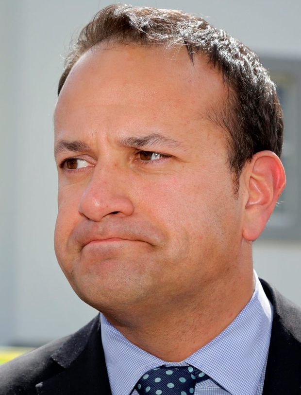 Minister for Health Leo Varadkar pictured speaking to the media outside Portlaoise Hospital. 13/5/15 Pic Frank Mc Grath