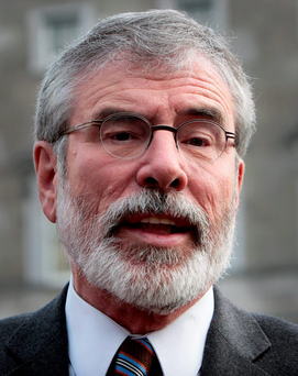 Gerry Adams is rumoured to be stepping down as leader of Sinn Fein before the general election Photo: Tom Burke