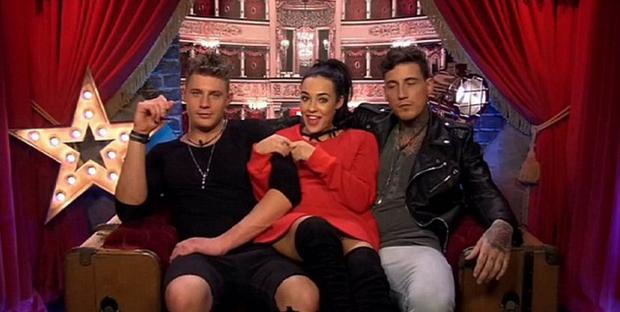 Scotty T, Stephanie Davis and Jeremy McConnell in the Celebrity Big Brother House. Picture: Channel 5