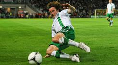 Stephen Hunt in action for Ireland