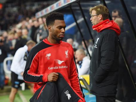 Daniel Sturridge and Jurgen Klopp