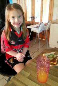 Ella Trainor (6) the little girl who died in car crash on Hilltown Road in Newry.
