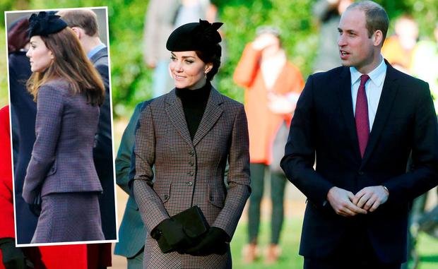 7b7539bf9b57 Kate Middleton and Prince William at a service to mark the 100th  anniversary of the end