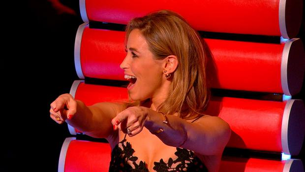 Rachel Stevens' reaction to Emmie on The Voice of Ireland
