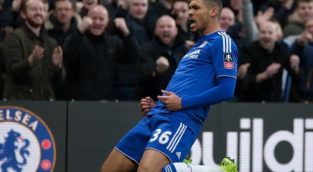 Ruban Loftus-Cheeks celebrates scoring Chelsea's second goal