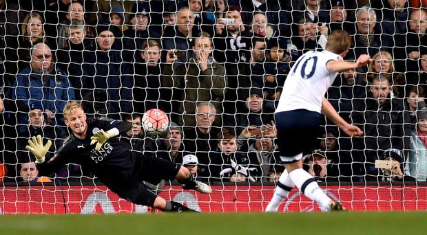 Tottenham's Harry Kane scores their second goal with a penalty