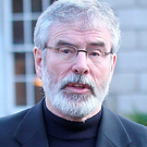 In the Labour Party's proposed advertisement, Gerry Adams (pictured) was depicted in marital union with Micheal Martin Photo: Stephen Collins/Collins Photos
