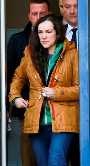 Monika Matracka leaving a special sitting of Limerick District Court in connection with the death of Polish man Michal Rejmer Photo: Brian Gavin / Press 22