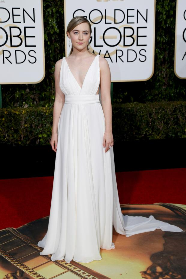 Actress Saoirse Ronan arrives at the 73rd Golden Globe Awards in Beverly Hills, California January 10, 2016. REUTERS/Mario Anzuoni