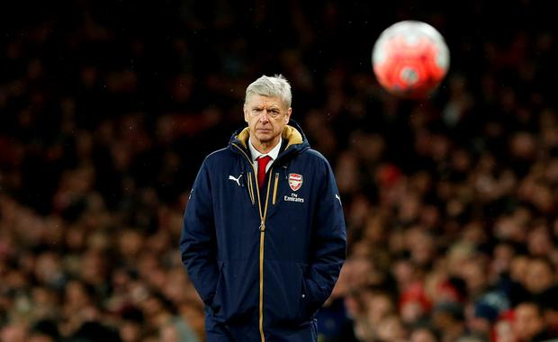 Arsenal manager Arsene Wenger watches on during the match. Photo: Reuters