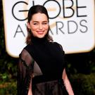Actress Emilia Clarke arrives at the 73rd Golden Globe Awards in Beverly Hills, California January 10, 2016. REUTERS/Mario Anzuoni