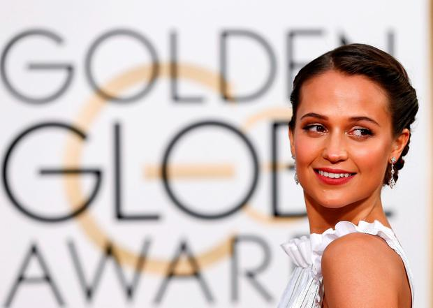 Actress Alicia Vikander arrives at the 73rd Golden Globe Awards in Beverly Hills, California January 10, 2016. REUTERS/Mario Anzuoni