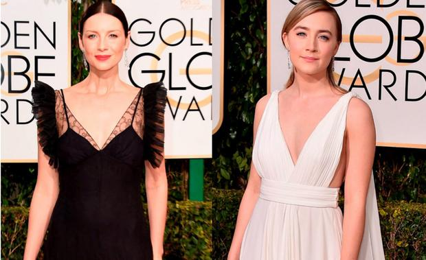 Caitriona Balfe (left) and Saoirse Ronan (right)