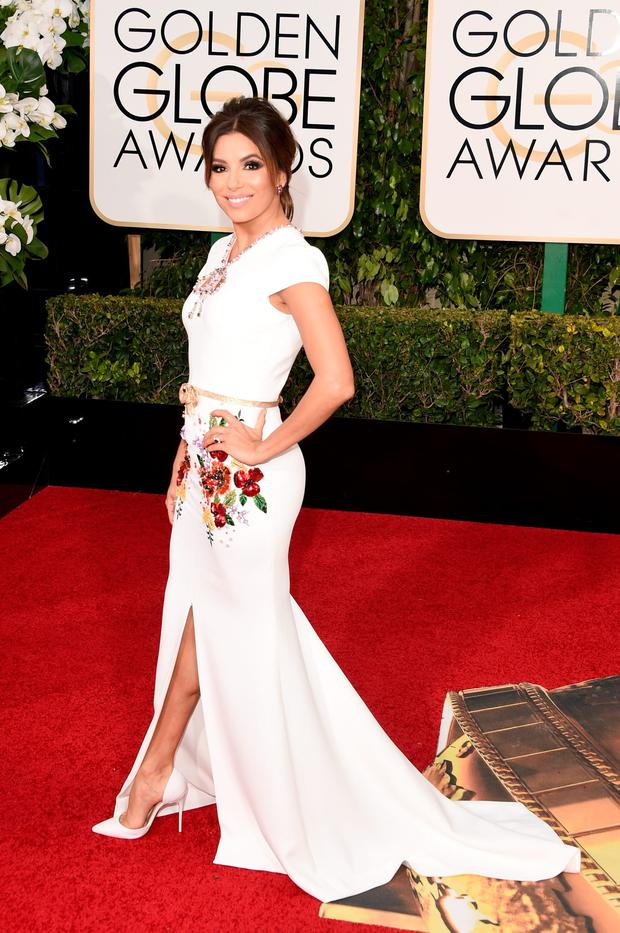 Actress Eva Longoria attends the 73rd Annual Golden Globe Awards held at the Beverly Hilton Hotel on January 10, 2016 in Beverly Hills, California. (Photo by Jason Merritt/Getty Images)