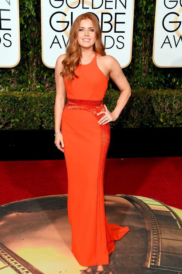 Actress Amy Adams attends the 73rd Annual Golden Globe Awards held at the Beverly Hilton Hotel on January 10, 2016 in Beverly Hills, California. (Photo by Jason Merritt/Getty Images)