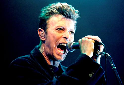 David Bowie performs during a concert in Vienna, Austria in this February 4, 1996 file photo. Singer Bowie has died after an 18-month battle with cancer, his official Twitter account announced on January 11, 2016
