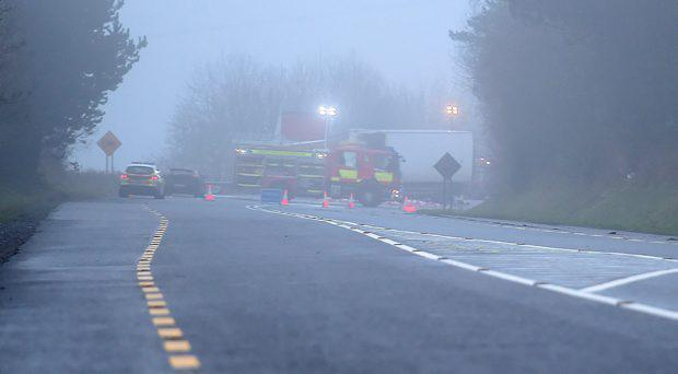Two men have died after a road collision in Monaghan. The crash occurred between Carrickmacross and Castleblayney on the N2 Dublin to Monaghan road around 6 o'clock