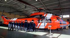 The crew of a Spanish Coastguard rescue helicopter