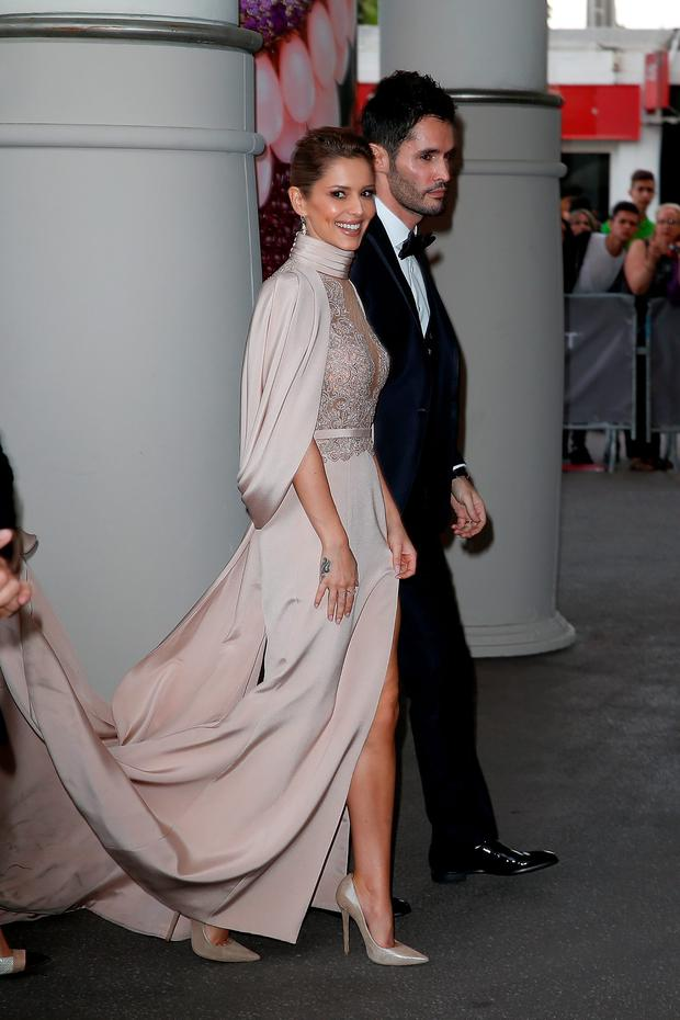 Cheryl Fernandez-Versini and Jean-Bernard Fernandez-Versini sighted during the 68th annual Cannes Film Festival on May 15, 2015 in Cannes, France. (Photo by Pierre Suu/GC Images)