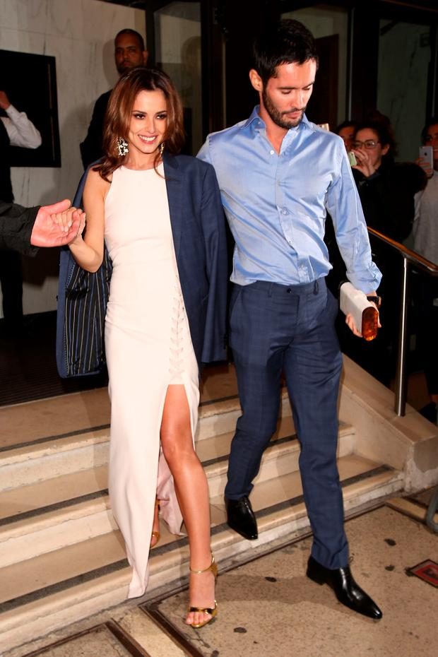Cheryl Fernandez-Versini and Jean-Bernard Fernandez-Versini attending Ant and Dec's 40th Birthday party at the Kensington Roof Gardens on October 15, 2015 in London, England. (Photo by Mark Robert Milan/GC Images)