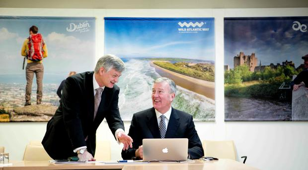 Pictured at Fáilte Ireland's Annual Review & Forecast for 2016 were CEO Shaun Quinn and Chairman Michael Cawley. Photo: Chris Bellew/Fennell Photography 2016.