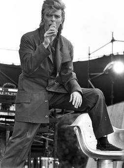 David Bowie concert at Slane 12/7/1987 To see more images from David Bowie's 1987 Slane concert visit independentarchives.com