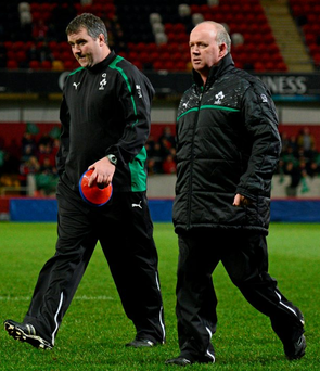 Munster head coach Anthony Foley worked with Declan Kidney within the Ireland set-up and there has been calls for Kidney to return to Munster in an advisory position to assist his former captain Photo: Stephen McCarthy / SPORTSFILE