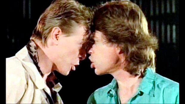 Bowie was rumoured to have had an affair with Rolling Stones frontman Mick Jagger; they later appeared together in the video for their single 'Dancing in the Streets'