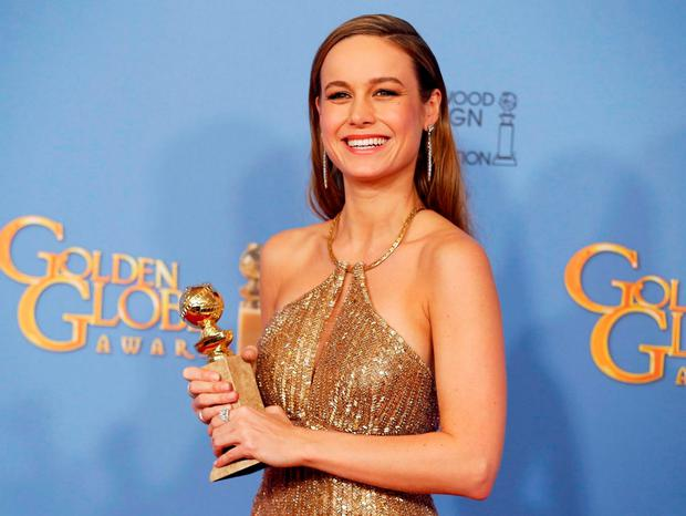 Brie Larson won Best Actress for the Irish-funded 'Room'. REUTERS/Lucy Nicholson