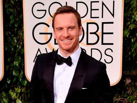 Michael Fassbender arrives at the 73rd annual Golden Globe Awards. Photo: Jordan Strauss/Invision/AP