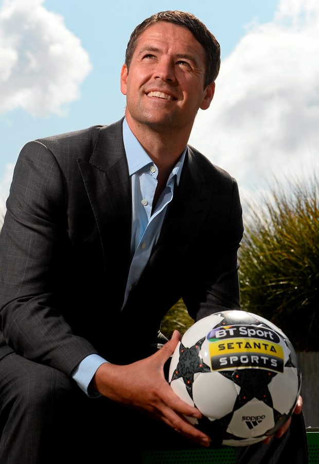 Michael Owen in Dublin yesterday ahead of this week's Premier League action on BT Sport Photo: David Maher / SPORTSFILE