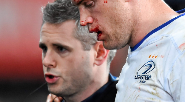 Heaslip is undergoing concussion return to play protocols after being sidelined during Friday's vital Guinness Pro12 win away to Ospreys Photo: Stephen McCarthy / SPORTSFILE