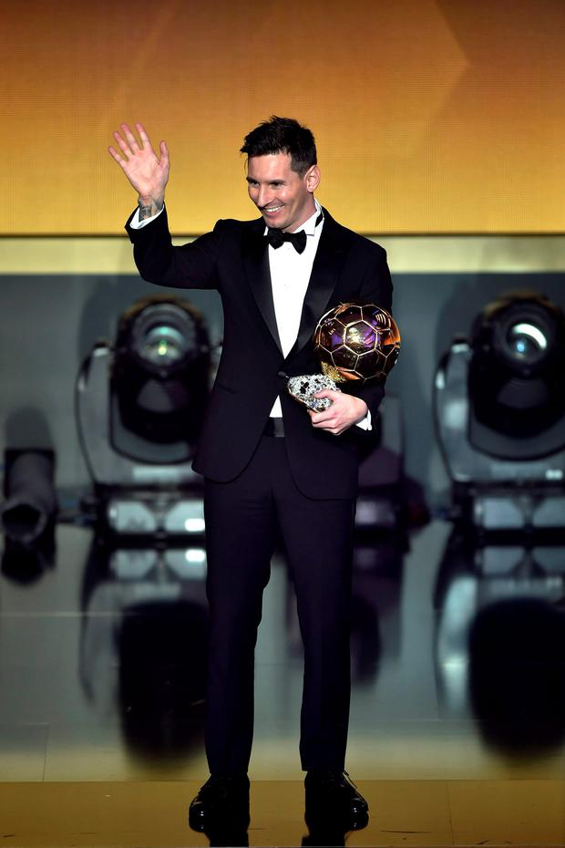 Lionel Messi has won the Ballon d'Or award for an unprecedented fifth time: AFP