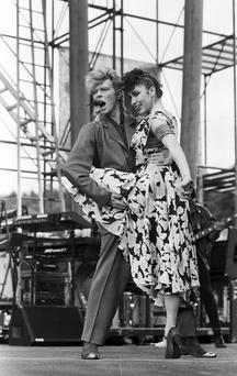 Bowie on stage in Slane in 1987. Photo: Independent/NPA archive