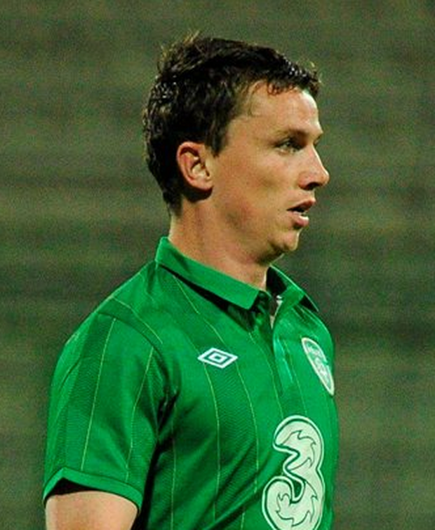 29 May 2012; Kevin Foley, Republic of Ireland, in action against , Tuscan Selection. International Friendly, Tuscan Selection v Republic of Ireland, Stadio Melani, Pistoia, Italy. Picture credit: David Maher / SPORTSFILE