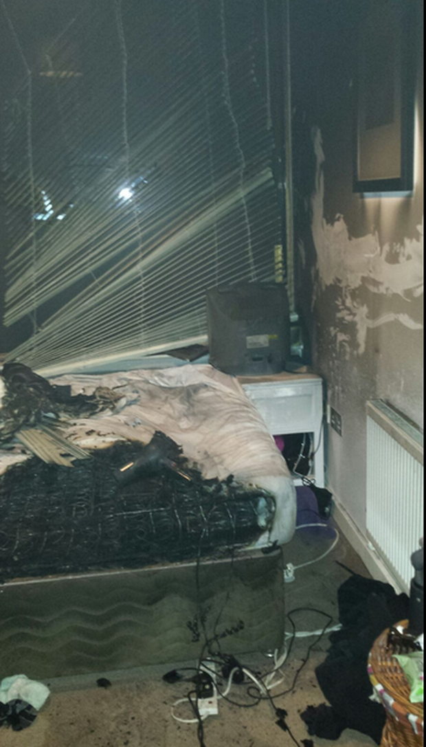 Dublin Fire Brigade want to remind people that beds and chargers don't mix