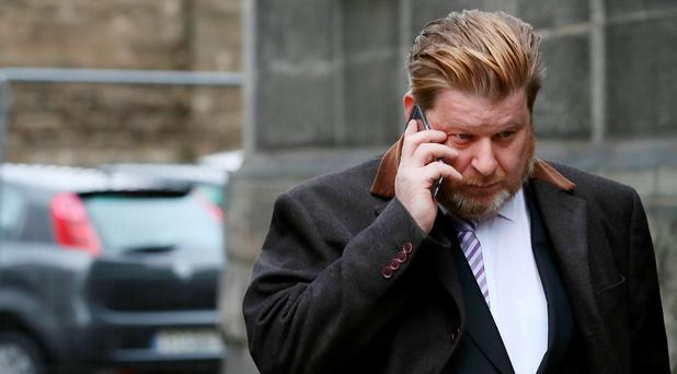Gavin Fogarty (45) pictured leaving the Bridewell District Court today. Photo: Courts Collins