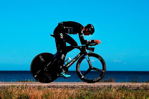 Chris Froome during Sky's training camp in Mallorca yesterday (Getty)